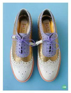 ABO + Ana Ljubinkovic brogues #brogues #shoes #oxfords #pastels