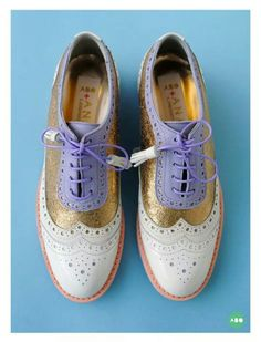 ABO + Ana Ljubinkovic brogues #brogues #shoes #oxfords #pastels