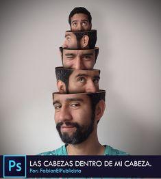 Photoshop CC Tutorial #4 - Efecto cabezas que salen de mi cabeza | Español