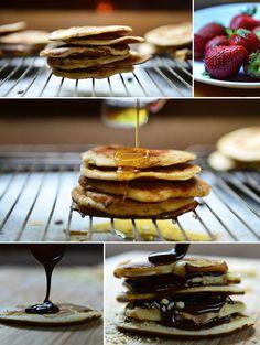 Το ηθικό δίδαγμα: Κάθε μέρα είναι μέρα για Pancakes. Και κάθε ώρα. Pancakes, Snacks, Cooking, Breakfast, Recipes, Food, Kitchen, Morning Coffee, Cuisine
