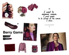 Berry Game ~ by zaxyshoes-co-uk on Polyvore featuring Chicwish, Rebecca Minkoff, Bobbi Brown Cosmetics, Bite and Ciaté