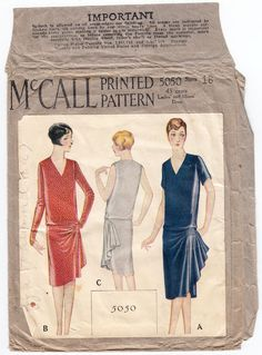 McCall 5050 1920  s dress pattern by House of Worth.
