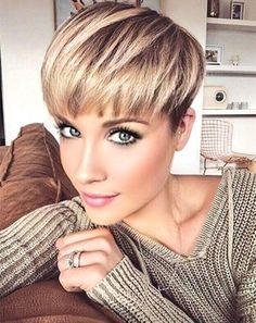 Best Pixie Cuts for Blonde Hair - The Un. - Wedge-Pixie Best Pixie Cuts for Blonde Hair - Short Blonde Pixie, Short Pixie Haircuts, Short Hair Cuts, Blonde Pixie Haircut, Haircut Short, Blonde Hair Undercut, Blonde Pixie Hairstyles, Short Wedge Hairstyles, Hairstyles Haircuts