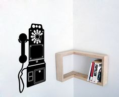 Vintage phone wall decal home office decor on Etsy, $35.72