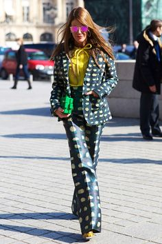 Paris Fashion week Street Style 2013 Anna Dello Russo
