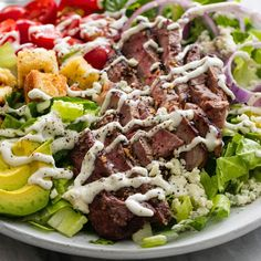 Learn to make Black N' Blue Grilled Steak Salad. Read these easy to follow recipe instructions and enjoy Black N' Blue Grilled Steak Salad today!