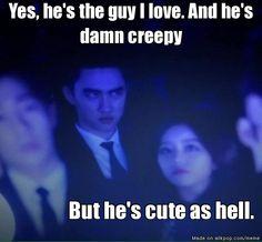 haha... Kyungsoo creepy and cute at the same time