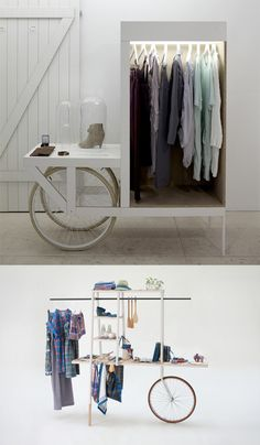 Beautiful, useful carts for play & display. By La Clinica & Ilot.