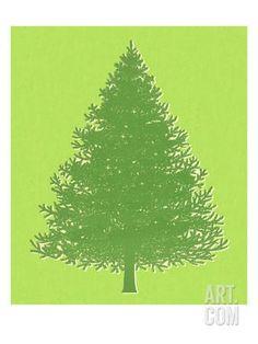 Pine Tree Art Print by Pop Ink - CSA Images at Art.com