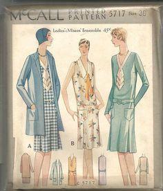 1920s Flapper V Neck Drop Waist Sleeve Variations by kinseysue
