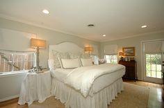 linen roman shades master bedroom