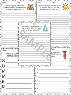 Keep writing skills sharp with these fun summer writing prompts!  In this product you will receive 23 unique and fun writing prompts. Each page contains lines for student response.