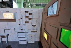 Screen in wall Visual Merchandising, Exhibition Space, Exhibition Stands, Design Museum, Exhibit Design, Floor Graphics, Branding, Environmental Design, Design Furniture