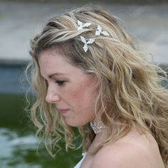 hairpin set of pearl or crystal mistletoe by bunny loves evie | notonthehighstreet.com