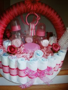 Elephant Diaper Cake Basket Cakes And