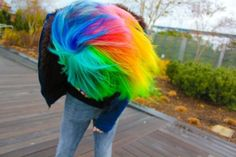 Reminds me of Rainbow Dash from My Little Pony. Rainbow Dash, Taste The Rainbow, Rainbow Brite, Rainbow Jello, Rainbow Wig, Rainbow Stuff, Dye My Hair, Your Hair, Will Turner