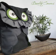 Customizable for Color Fabrics and Size Backpack von QUALITYcovers Owl Backpack, Laptop Backpack, Convertible Backpack, Everyday Bag, Cotton Bag, Shoulder Pads, Bag Making, Sewing Projects, Backpacks
