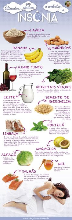 Alimentos que acabam com a insônia Healthy Tips, Healthy Eating, Healthy Recipes, Menu Dieta, Good Food, Yummy Food, Food Hacks, Healthy Lifestyle, Food And Drink