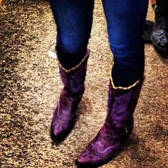 purple cowgirl boots I love for the wedding