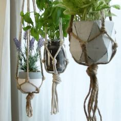 DIY-Macrame-Pflanzenaufhänger - Diy Heimwerken Dekoration - Wohnaccessoires DIY Macrame Plant Hanger DIY DIY Decoración And Home Improvement Home Crafts, Diy Home Decor, Diy And Crafts, Jar Crafts, Diy Macrame Plant Hanger, Plant Hangers, Diy Hanging Planter Macrame, Hanging Plant Diy, Macreme Plant Hanger