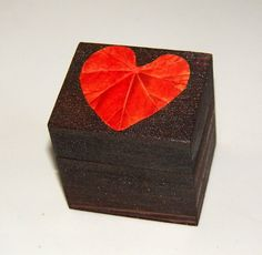 Caja de Madera Joyero de Madera Caja del Anillo por Tutorialpaper