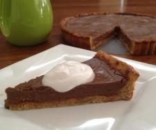 Recipe Chocolate Custard Tart (Gluten, Dairy and Refined Sugar Free) by Thermo Sensation, learn to make this recipe easily in your kitchen machine and discover other Thermomix recipes in Desserts & sweets. Chocolate Custard, Chocolate Pies, Chocolate Recipes, Sweets Recipes, Desserts, Paleo Recipes, Coconut Syrup, Custard Tart, Coconut Whipped Cream