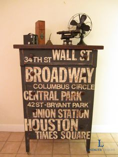 NY Subway Dresser - Finished   Great ideas ladies!