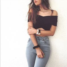 brandy melville black crop top Nwt Brandy Melville Tops Crop Tops