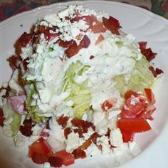 """Wedge Salad with Blue Cheese Dressing 