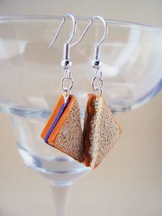 Food Jewelry. Peanut Butter and Jelly Polymer Clay Earrings by MyMiniMunchies, $14.00. Polymer clay charms.