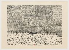 """Xu Bing. Black Tadpole. 1988. From Series of Repetitions. One from a series of ten woodcuts. Composition: 21 9/16 x 29 1/2"""" (54.8 x 75 cm); sheet: 26 5/16 x 35 13/16"""" (66.9 x 91 cm). The Museum of Modern Art, New York. Riva Castleman Endowment Fund © 2014 Xu Bing"""