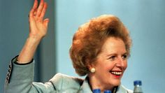 British Prime Minister Margaret Thatcher at the opening of the Conservative Party Conference in Blackpool, October 10, 1989. Thatcher died on Monday, April 8., 2013, at age 87.- Tough and proud of it, Thatcher was the steeliest British Prime Minister of modern times.- Britons will remember her as Maggie the Iron lady, who supporters still believe put the Great back into Britain. --- A great lady may she be at peace.
