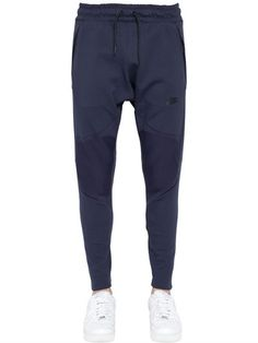NIKE TECH FLY KNIT JOGGING PANTS, NAVY. #nike #cloth #pants