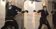 """There are ten little words that every Bay Area """"Star Wars"""" fan has been waiting to hear. And those words are, """"Welcome to the international network of sporting Light Saber Combat. Light Saber, Bay Area, Waiting, Star Wars, Entertaining, Fan, Lightsaber, Hand Fan, Starwars"""