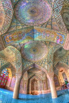 psychedelic-psychiatrist:  Interior of a mosque in Iran