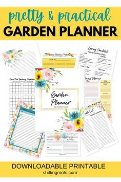 Free Garden Planner, Vegetable Garden Planner, Garden Yard Ideas, Garden Projects, Small Space Gardening, Urban Gardening, Gardening Tips, Farm Layout, Garden Journal