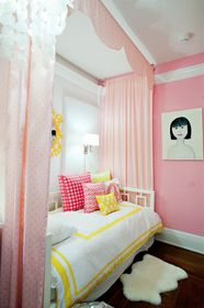 Pink + bright yellow