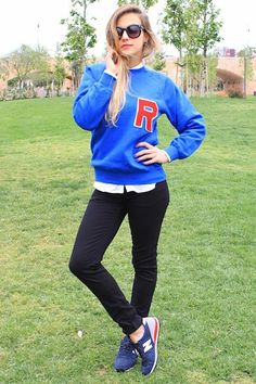 10 Ways to Rock the Just-in-Time-for-Back-to-School Varsity Trend (chic sweatshirt trend) #fallfashion