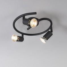 Ceiling Spotlight Jeany 3 Curl Black