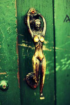 Doors, Knobs and Knockers. Door Knobs And Knockers, Knobs And Handles, Knobs And Pulls, Door Handles, Cool Doors, Unique Doors, When One Door Closes, Door Detail, Door Gate