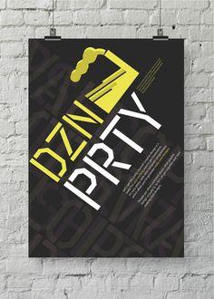 dzn prty by Grafik BS , via Behance