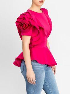 Clarissa Bertha Gold Pitbull Mom Toddler Baby Girls Short Sleeve Ruffle T-Shirt