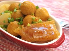 Curry Fish Balls with Pork Grinds