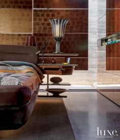 Modern Brown and Gold Master Bedroom