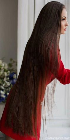 Long Brown Hair, Very Long Hair, Beautiful Long Hair, Gorgeous Hair, Long Brunette Hair, Silky Hair, Hair Lengths, Cool Hairstyles, Hair Beauty