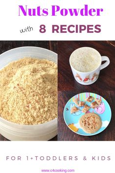 Nuts Powder with 8 Recipes Toddler Recipes, Toddler Meals, Baby Food Recipes, Meal Plan For Toddlers, Recipe For 1, Pudding Ingredients, Powder Recipe, Banana Pancakes, Pistachio