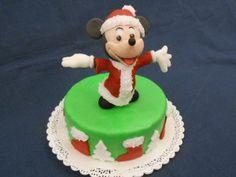 Topolino Natalizio - http://tortedecorate.eu/topolino-natalizio/