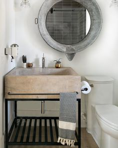 """35 Likes, 5 Comments - D A N A L Y N C H D E S I G N (@danalynchdesign) on Instagram: """"Gushing over how cute this bathroom turned out. I'm a sucker for a concrete washstand.... just…"""""""