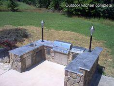 complete outdoor barbeque kitchen