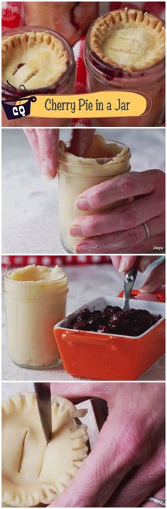 Cherry Pies in Mason Jars! - Fill a jar with pastry dough and fruit to make an exceptional dessert